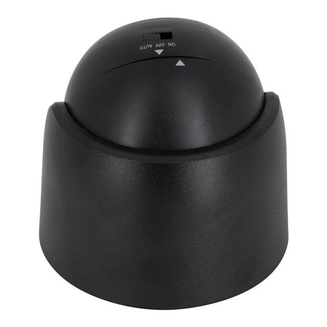 79001 Μαύρο Φωτιστικό Μπαταρίας σε Σχήμα Κάμερας LED SMD 3W 300lm με Αισθητήρα Ημέρας-Νύχτας και PIR Αισθητήρα Κίνησης Ψυχρό Λευκό 6000K - 6