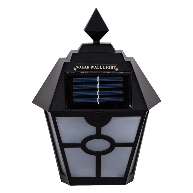 71494 Αυτόνομο Ηλιακό Φωτιστικό Τοίχου Μαύρο LED SMD 1W 100lm με Ενσωματωμένη Μπαταρία 600mAh - Φωτοβολταϊκό Πάνελ με Αισθητήρα Ημέρας-Νύχτας IP65 Ψυχρό Λευκό 6000K - 3