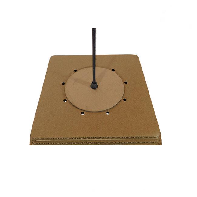 Vintage Κρεμαστό Φωτιστικό Οροφής Μονόφωτο 3D από Επεξεργασμένο Σκληρό Καφέ Χαρτόνι Καμπάνα Φ38  CORFU 01295 - 7