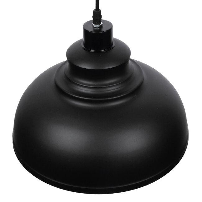 Μοντέρνο Κρεμαστό Φωτιστικό Οροφής Μονόφωτο Μαύρο Μεταλλικό Καμπάνα Φ35  ANDY 01000 - 4