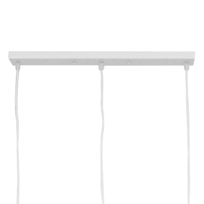 SET Μοντέρνο Κρεμαστό Φωτιστικό Οροφής Τρίφωτο Λευκό Μεταλλικό  LITTLE MAN WHITE 00981 - 6