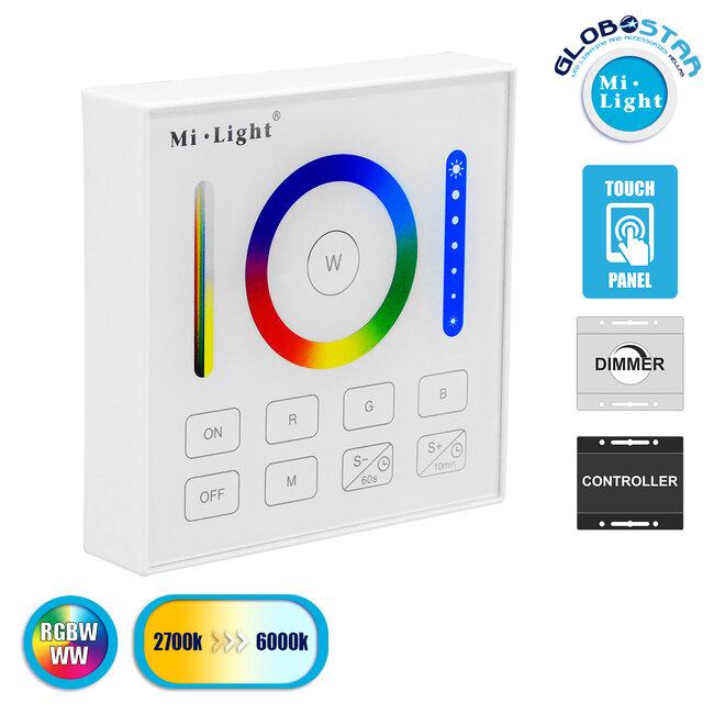 73425 Mi-Light B0 LED RGBW+WW+CCT Smart Ασύρματο Χειριστήριο Αφής 2.4G RF Φορητό/Τοίχου με Μπαταρία για όλα τα Mi-Light Controller Box - 1