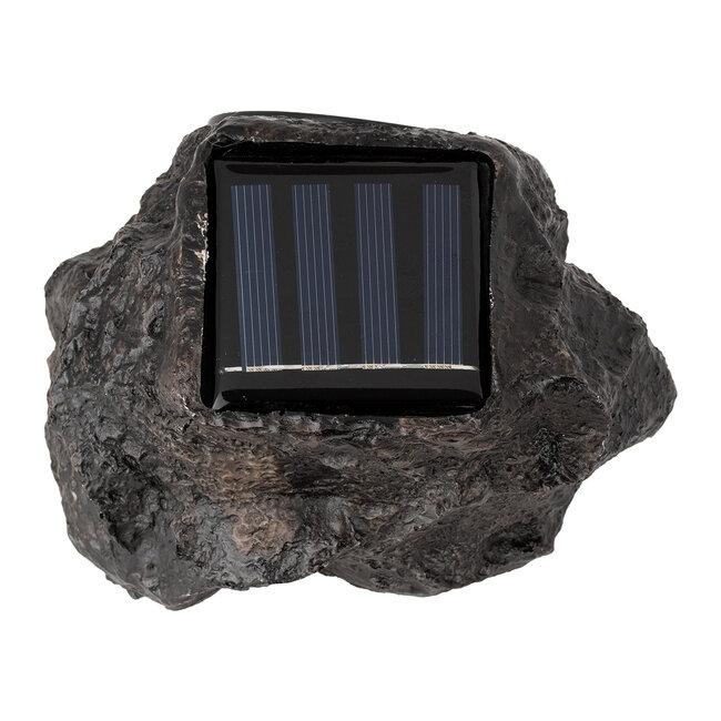 71484 Αυτόνομο Ηλιακό Φωτιστικό LED SMD 1W 100lm με Ενσωματωμένη Μπαταρία 600mAh - Φωτοβολταϊκό Πάνελ με Αισθητήρα Ημέρας-Νύχτας Αδιάβροχο IP65 Διακοσμητική Πέτρα - Βράχος Κήπου Ψυχρό Λευκό 6000K - 4