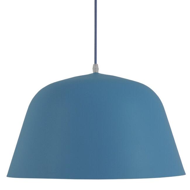 Μοντέρνο Κρεμαστό Φωτιστικό Οροφής Μονόφωτο Μπλε Μεταλλικό Καμπάνα Φ40  DOWNVALE 01286 - 3