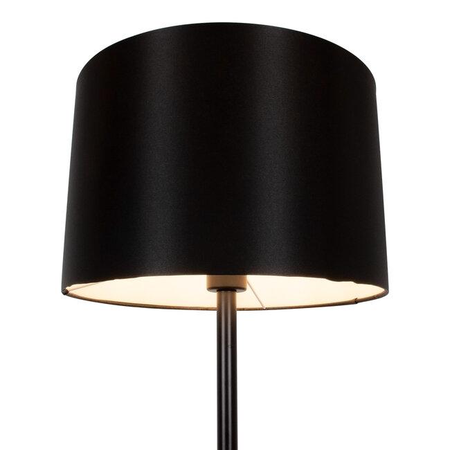 GloboStar® ASHLEY 00822 Μοντέρνο Φωτιστικό Δαπέδου Μονόφωτο Μεταλλικό Μαύρο με Καπέλο Φ35 x Υ145cm - 4