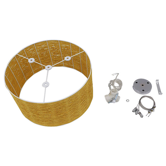 Vintage Κρεμαστό Φωτιστικό Οροφής Μονόφωτο Καφέ Ξύλινο Bamboo Φ40  MADAGASKAR 01630 - 9