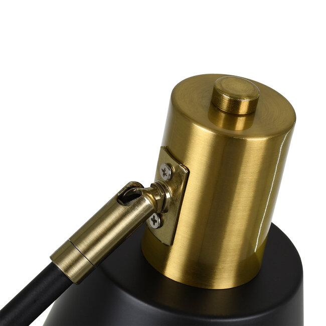 LETO 00834 Μοντέρνο Επιτραπέζιο Φωτιστικό Γραφείου Μονόφωτο Μεταλλικό Μαύρο Χρυσό Φ13 x Μ30 x Π18 x Υ54cm - 8