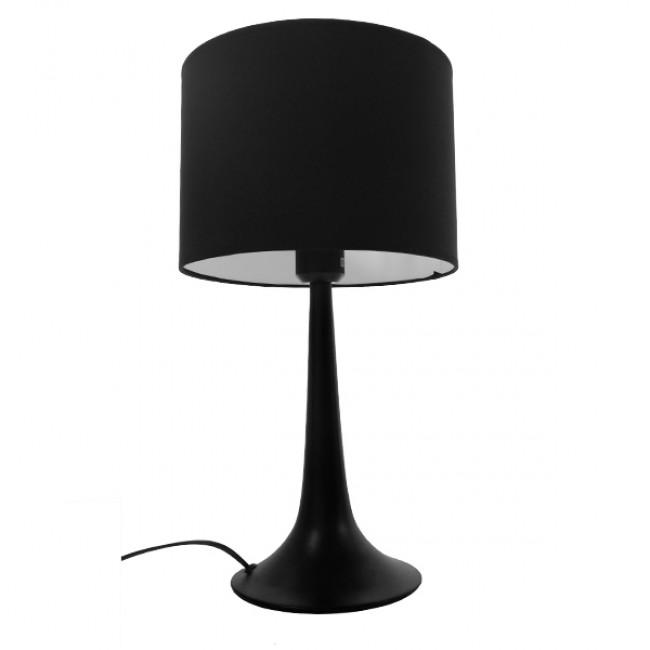 Μοντέρνο Επιτραπέζιο Φωτιστικό Πορτατίφ Μονόφωτο Μεταλλικό με Μαύρο Καπέλο Φ25 GloboStar AMBROSIA BLACK 01394 - 3