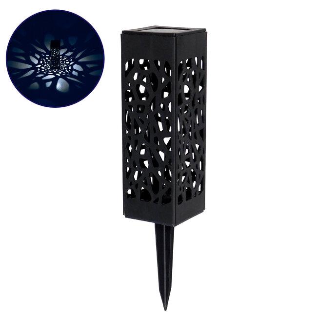 71525 Αυτόνομο Ηλιακό Φωτιστικό LED SMD 1W 100lm με Ενσωματωμένη Μπαταρία 300mAh - Φωτοβολταϊκό Πάνελ με Αισθητήρα Ημέρας-Νύχτας Αδιάβροχο IP65 Φαναράκι Κήπου Ψυχρό Λευκό 6000K - 2