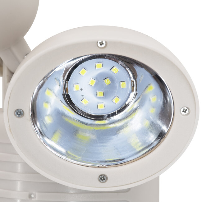 GloboStar® 71508 Αυτόνομο Ηλιακό Φωτιστικό LED SMD 10W 150lm με Ενσωματωμένη Μπαταρία 1200mAh - Φωτοβολταϊκό Πάνελ με Αισθητήρα Ημέρας-Νύχτας και PIR Αισθητήρα Κίνησης Αδιάβροχο IP54 Ψυχρό Λευκό 6000K - 10