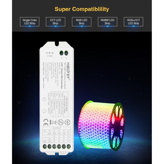 GloboStar® 73422 Ασύρματος RF 2.4Ghz LED RGBW + WW Smart Controller Mi-Light LS2 MiBOXER RF 2.4G DC 12-24V Max 360W - 8
