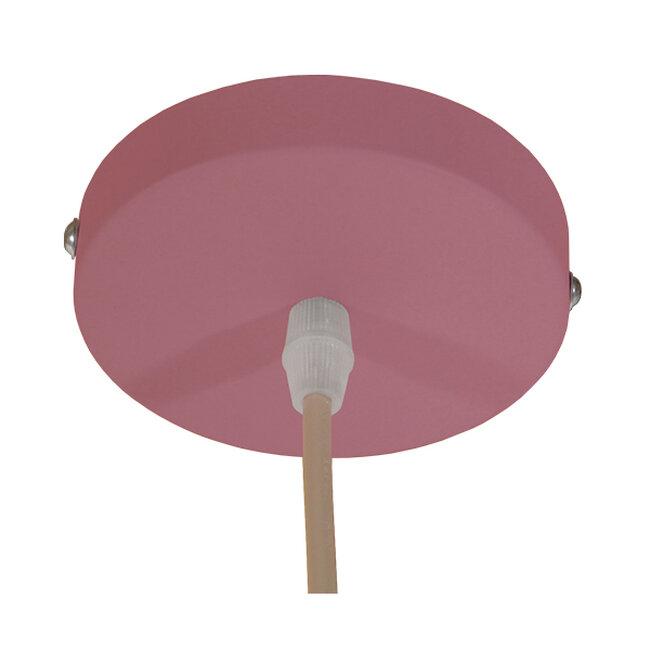 Μοντέρνο Κρεμαστό Φωτιστικό Οροφής Μονόφωτο Ροζ Μεταλλικό Καμπάνα Φ40  SOUTHVALE 01284 - 8