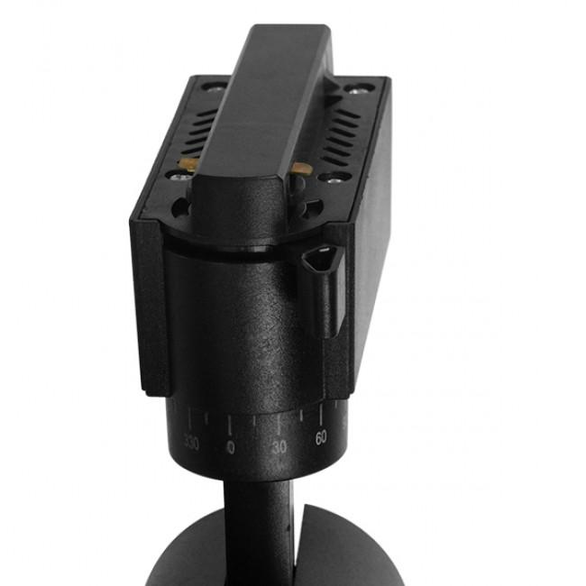 Μονοφασικό Bridgelux COB LED Μάυρο Φωτιστικό Σποτ Ράγας 10W 230V 1250lm 30° Φυσικό Λευκό 4500k GloboStar 93094 - 5