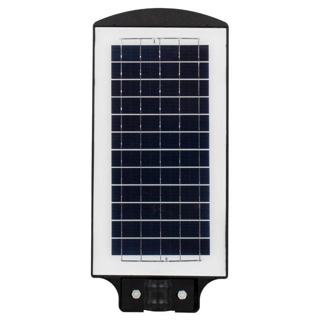 GloboStar® 71551 Αυτόνομο Ηλιακό Φωτιστικό Δρόμου Street Light All In One LED SMD 100W 8000lm με Ενσωματωμένη Μπαταρία Li-ion 5500mAh - Φωτοβολταϊκό Πάνελ με Αισθητήρα Ημέρας-Νύχτας PIR Αισθητήρα Κίνησης και Ασύρματο Χειριστήριο RF 2.4Ghz Αδιάβροχο I - 5