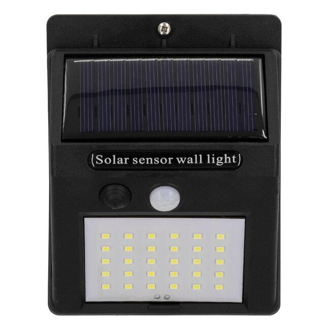 GloboStar® 71501 Αυτόνομο Ηλιακό Φωτιστικό LED SMD 8W 800lm με Ενσωματωμένη Μπαταρία 1200mAh - Φωτοβολταϊκό Πάνελ με Αισθητήρα Ημέρας-Νύχτας και PIR Αισθητήρα Κίνησης IP65 Ψυχρό Λευκό 6000K - 5
