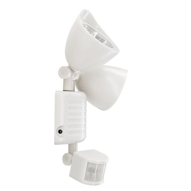 GloboStar® 71508 Αυτόνομο Ηλιακό Φωτιστικό LED SMD 10W 150lm με Ενσωματωμένη Μπαταρία 1200mAh - Φωτοβολταϊκό Πάνελ με Αισθητήρα Ημέρας-Νύχτας και PIR Αισθητήρα Κίνησης Αδιάβροχο IP54 Ψυχρό Λευκό 6000K - 7