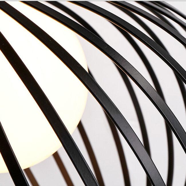 Μοντέρνο Κρεμαστό Φωτιστικό Οροφής Μονόφωτο Μαύρο Μεταλλικό Καμπάνα Φ38  GOBLET DARK 01266 - 6
