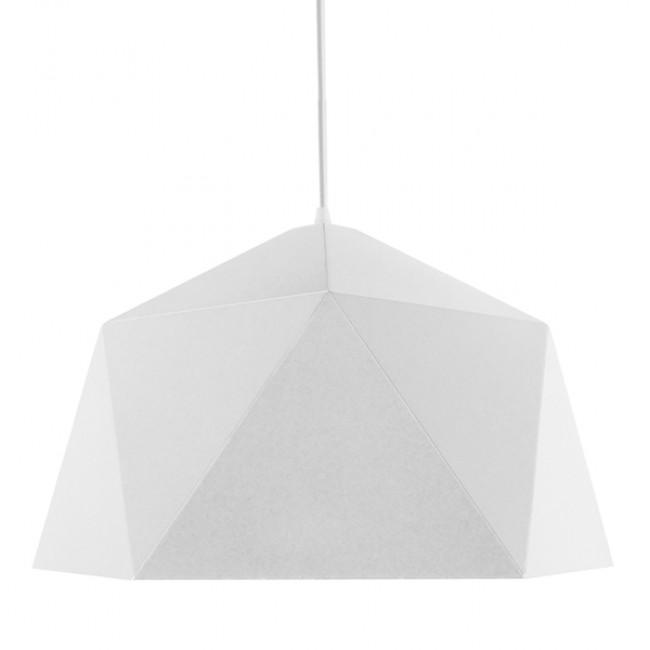 Μοντέρνο Κρεμαστό Φωτιστικό Οροφής Μονόφωτο Λευκό Χρυσό Μεταλλικό Καμπάνα Φ46 GloboStar CHILUM 01378 - 3