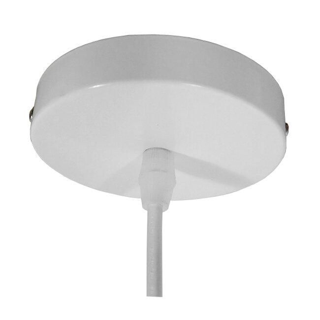 Μοντέρνο Κρεμαστό Φωτιστικό Οροφής Μονόφωτο Ασημί Μεταλλικό Καμπάνα Φ39  FELICITA 01276 - 7