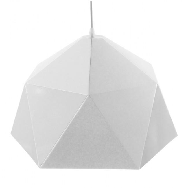 Μοντέρνο Κρεμαστό Φωτιστικό Οροφής Μονόφωτο Λευκό Χρυσό Μεταλλικό Καμπάνα Φ46 GloboStar CHILUM 01378 - 4