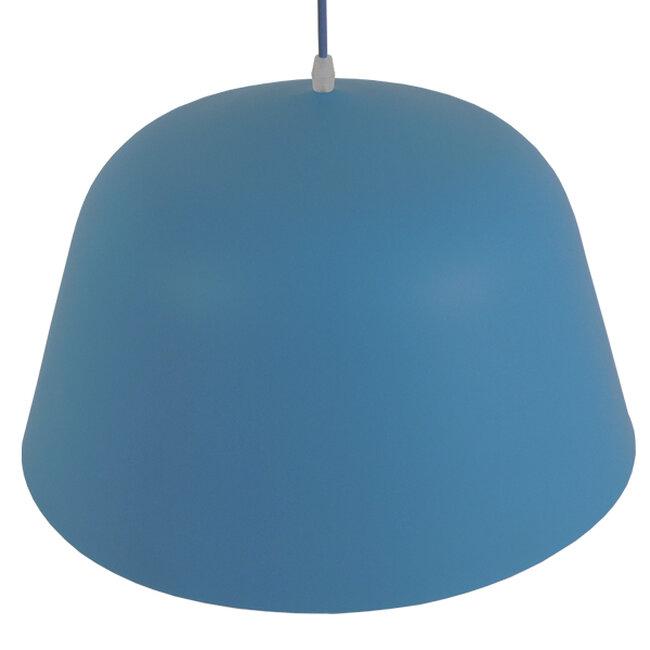 Μοντέρνο Κρεμαστό Φωτιστικό Οροφής Μονόφωτο Μπλε Μεταλλικό Καμπάνα Φ40  DOWNVALE 01286 - 6