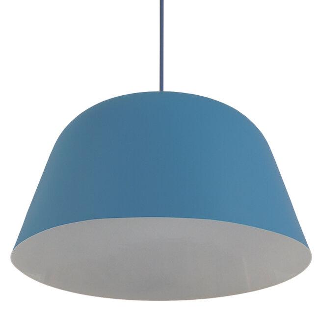 Μοντέρνο Κρεμαστό Φωτιστικό Οροφής Μονόφωτο Μπλε Μεταλλικό Καμπάνα Φ40  DOWNVALE 01286 - 4
