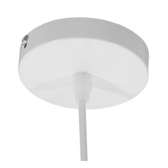 Μοντέρνο Κρεμαστό Φωτιστικό Οροφής Μονόφωτο Λευκό Μεταλλικό Πλέγμα με Λευκό Γυαλί Φ26  STEPHEN 01225 - 8