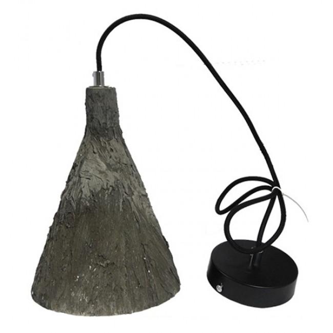 Μοντέρνο Κρεμαστό Φωτιστικό Οροφής Μονόφωτο Καφέ Τσιμέντο Φ18  VOLCANO 01080 - 6