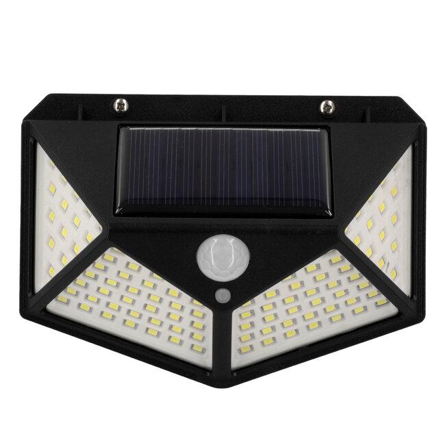 GloboStar® 71499 Αυτόνομο Ηλιακό Φωτιστικό LED SMD 10W 1000lm με Ενσωματωμένη Μπαταρία 1200mAh - Φωτοβολταϊκό Πάνελ με Αισθητήρα Ημέρας-Νύχτας και PIR Αισθητήρα Κίνησης IP65 Ψυχρό Λευκό 6000K - 5