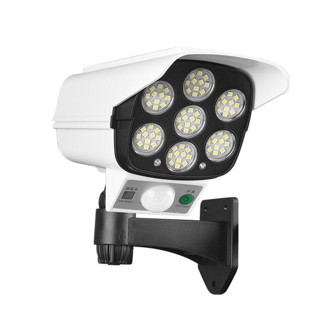 GloboStar® 71507 Αυτόνομο Ηλιακό Φωτιστικό Σχήμα Κάμερας LED SMD 20W 2000 lm με Ενσωματωμένη Μπαταρία 2600mAh - Φωτοβολταϊκό Πάνελ με Αισθητήρα Ημέρας-Νύχτας και PIR Αισθητήρα Κίνησης IP65 Ψυχρό Λευκό - 5