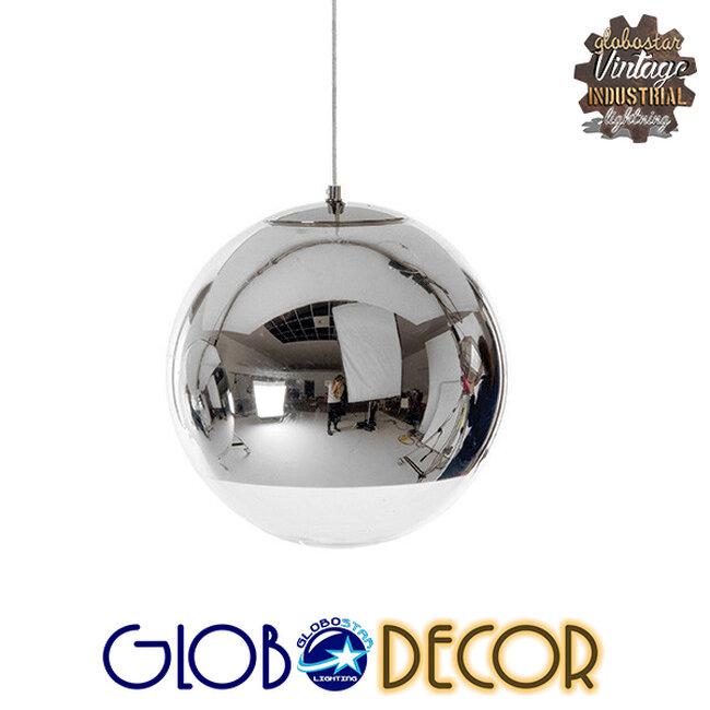Μοντέρνο Κρεμαστό Φωτιστικό Οροφής Μονόφωτο Γυάλινο Νίκελ Φ15  MIRAGE 01311 - 1