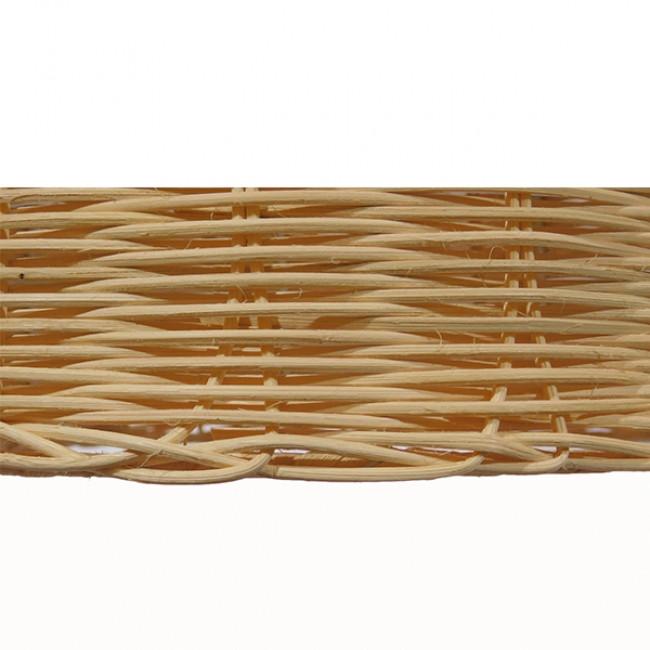 Vintage Κρεμαστό Φωτιστικό Οροφής Μονόφωτο Μπεζ Ξύλινο Ψάθινο Rattan Φ45  NATH 01203 - 7
