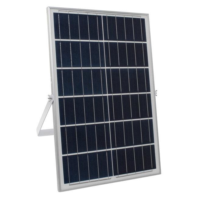 GloboStar® 71561 Αυτόνομος Ηλιακός Προβολέας LED SMD 200W 24000lm με Ενσωματωμένη Μπαταρία 20000mAh - Φωτοβολταϊκό Πάνελ με Αισθητήρα Ημέρας-Νύχτας και Ασύρματο Χειριστήριο RF 2.4Ghz Αδιάβροχος IP66 Ψυχρό Λευκό 6000K - 7
