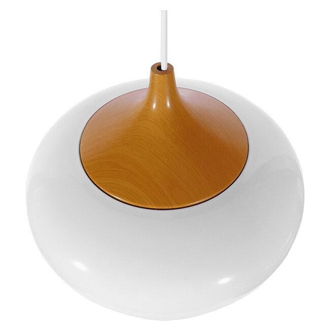 Μοντέρνο Κρεμαστό Φωτιστικό Οροφής Μονόφωτο Λευκό Μεταλλικό Καμπάνα Φ35  VILI WHITE 01260 - 4