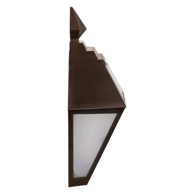 71493 Αυτόνομο Ηλιακό Φωτιστικό Τοίχου Καφέ LED SMD 1W 100lm με Ενσωματωμένη Μπαταρία 600mAh - Φωτοβολταϊκό Πάνελ με Αισθητήρα Ημέρας-Νύχτας IP65 Ψυχρό Λευκό 6000K - 4