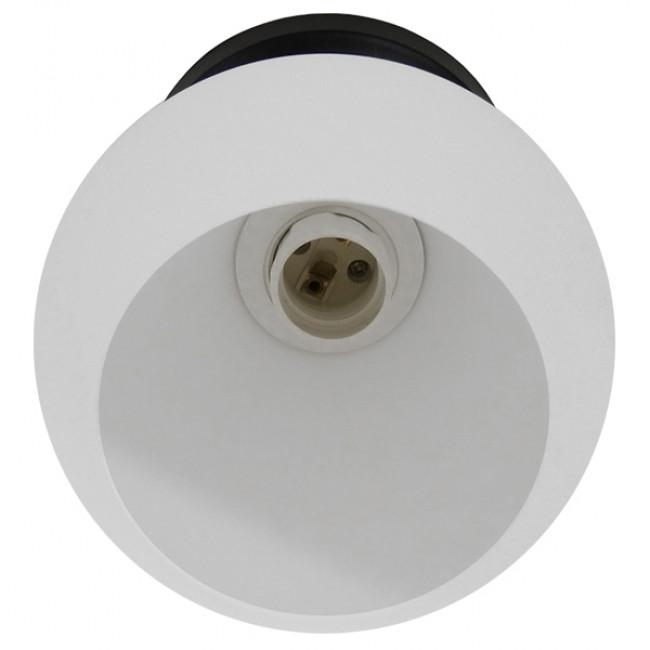 Μοντέρνο Φωτιστικό Οροφής Μονόφωτο Μαύρο με Λευκό Ματ Γυαλί Καμπάνα Φ13 GloboStar MAURA 01318 - 5