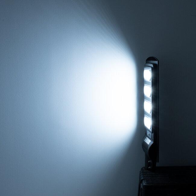 GloboStar® 71553 Αυτόνομο Ηλιακό Φωτιστικό Δρόμου Street Light All In One LED SMD 200W 16000lm με Ενσωματωμένη Μπαταρία Li-ion 12000mAh - Φωτοβολταϊκό Πάνελ με Αισθητήρα Ημέρας-Νύχτας PIR Αισθητήρα Κίνησης και Ασύρματο Χειριστήριο RF 2.4Ghz Αδιάβροχο - 13