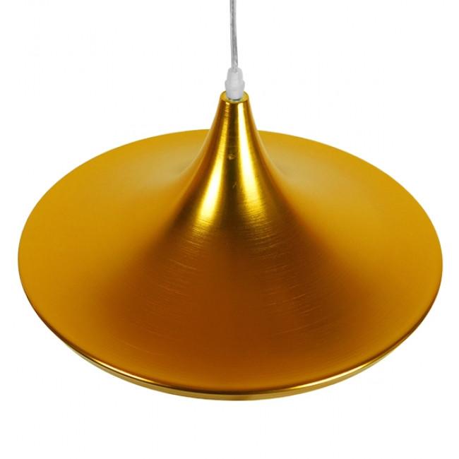 Μοντέρνο Κρεμαστό Φωτιστικό Οροφής Μονόφωτο Χρυσό Μεταλλικό Καμπάνα Φ37 GloboStar JIAXING 01545 - 4