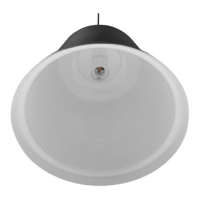 Vintage Industrial Κρεμαστό Φωτιστικό Οροφής Μονόφωτο Μαύρο Μεταλλικό Καμπάνα Φ27  NUNZIATA 01236 - 5