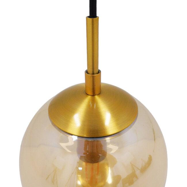 Μοντέρνο Φωτιστικό Τοίχου Απλίκα Μονόφωτο Χρυσό με Μελί Γυαλί Φ15  MADISON 01427 - 7
