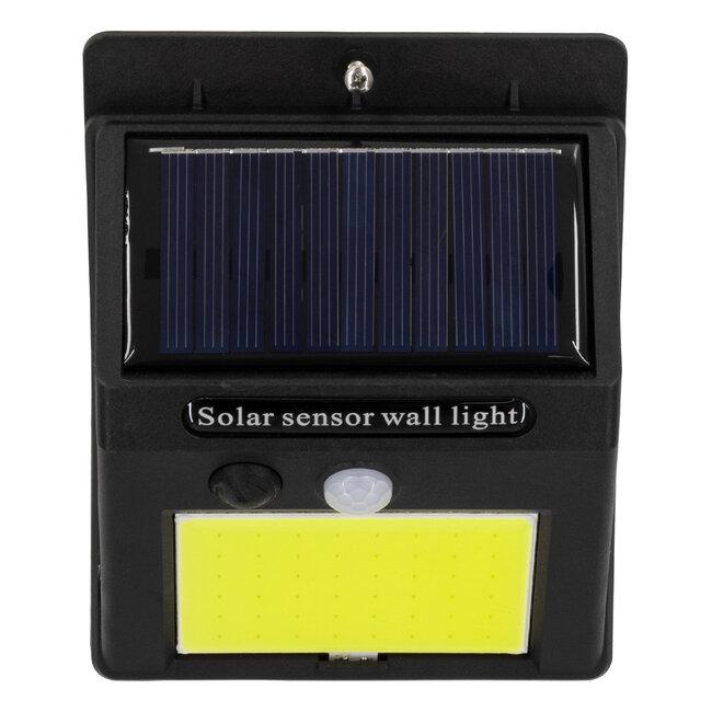 71496 Αυτόνομο Ηλιακό Φωτιστικό LED COB 12W 1200lm με Ενσωματωμένη Μπαταρία 1200mAh - Φωτοβολταϊκό Πάνελ με Αισθητήρα Ημέρας-Νύχτας και PIR Αισθητήρα Κίνησης IP65 Ψυχρό Λευκό 6000K - 8