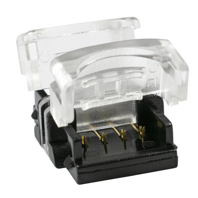 GloboStar® 70723 Αδιάβροχος Ταχυσύνδεσμος Ένωσης IP65 - Strip To Strip Connector για Ένωση 2 x RGB Αδιάβροχες Ταινίες LED Πλάτους 10mm - 3