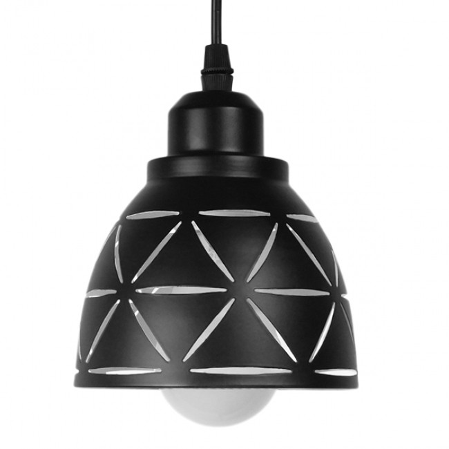 Μοντέρνο Κρεμαστό Φωτιστικό Οροφής Μονόφωτο Μεταλλικό Μαύρο Λευκό Καμπάνα Φ13 GloboStar COOLIE 01475 - 3