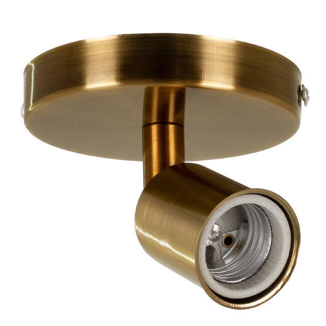 SARA 00846 Μοντέρνο Φωτιστικό Οροφής / Τοίχου Μονόφωτο 1xE27 Μεταλλικό Μπρονζέ Χρυσό Φ10 x Υ10.3cm - 2