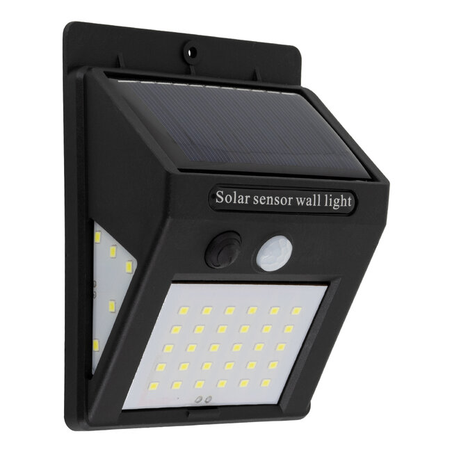 GloboStar® 71501 Αυτόνομο Ηλιακό Φωτιστικό LED SMD 8W 800lm με Ενσωματωμένη Μπαταρία 1200mAh - Φωτοβολταϊκό Πάνελ με Αισθητήρα Ημέρας-Νύχτας και PIR Αισθητήρα Κίνησης IP65 Ψυχρό Λευκό 6000K - 2