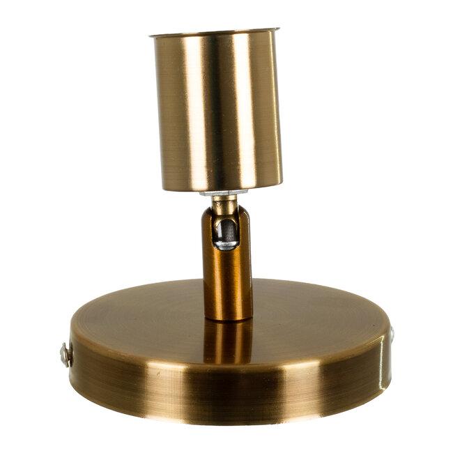 SARA 00846 Μοντέρνο Φωτιστικό Οροφής / Τοίχου Μονόφωτο 1xE27 Μεταλλικό Μπρονζέ Χρυσό Φ10 x Υ10.3cm - 4