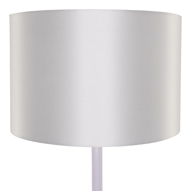 ASHLEY 00823 Μοντέρνο Φωτιστικό Δαπέδου Μονόφωτο Μεταλλικό Λευκό με Καπέλο Φ35 x Υ145cm - 6