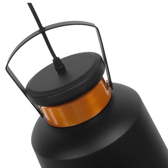Vintage Industrial Κρεμαστό Φωτιστικό Οροφής Μονόφωτο Μαύρο Μεταλλικό Καμπάνα Φ27  NUNZIATA 01236 - 6