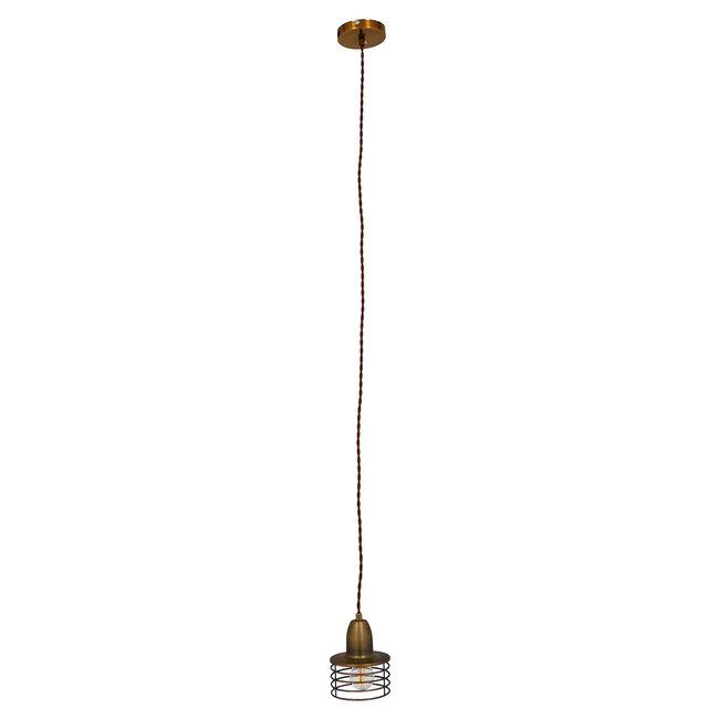 Μοντέρνο Industrial Κρεμαστό Φωτιστικό Οροφής Μονόφωτο Μεταλλικό Χρυσό Καμπάνα Φ11  MANHATTAN GOLD 01454 - 4