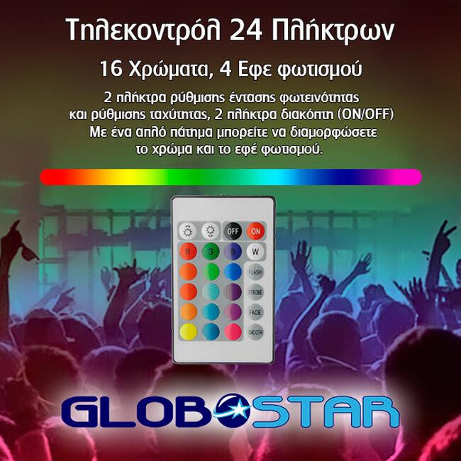 Πλήρες Κιτ Κρυφού Φωτισμού RGB με USB για Τηλεοράσεις και Τηλεχειριστήριο GloboStar 06006 - 9